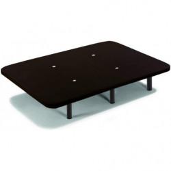 Cama Completa - Colchón Flexitex + Base Tapizada 3D Color Negro + 6 Patas