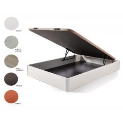 Cama Completa - Colchón Flexitex + Canape Abatible de Madera Color Wengué + Almohada de Fibra.