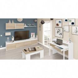 Mueble De Comedor Moderno Color Roble Canadian / Blanco Artik