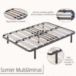 Somier Multiláminas con Patas + Colchón Viscoelástico ViscoMedicot