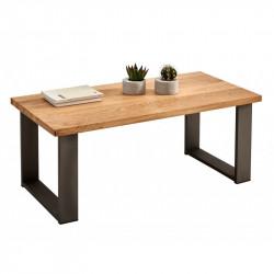 Conjunto madera: Mesa Centro U + Mueble Tv Max + Recibidor Metal