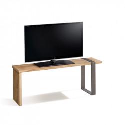 Conjunto madera: Mesa Centro U + Mueble Tv Morfeo + Recibidor Metal