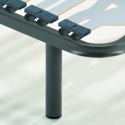 Somier Multiláminas Taco Caucho Basculante y Reguladores Lumbares. Tubo Acerado 40x30 mm. Patas de 25 Cm Incluidas.