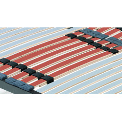 Somier Multiláminas Taco Caucho Basculante y Reguladores Lumbares. Tubo Acerado 40x30 mm. Patas de 32 Cm Incluidas.