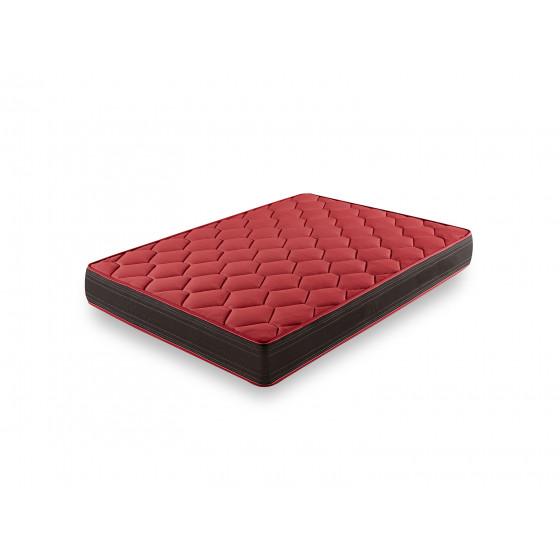 Base Tapizada Negro con Patas de 26 cm + Colchón Memory Fresh + Almohada Fibra