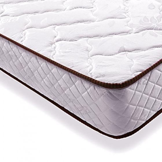 Cama Completa - Colchón Flexitex + Base Tapizada 3D Color Negro + 6 Patas + Almohada de Fibra.