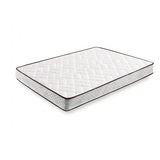 Cama Completa - Colchón Flexitex + Base Tapizada 3D con 5 Barras Transversales Color Gris + Patas + Almohada de Fibra.