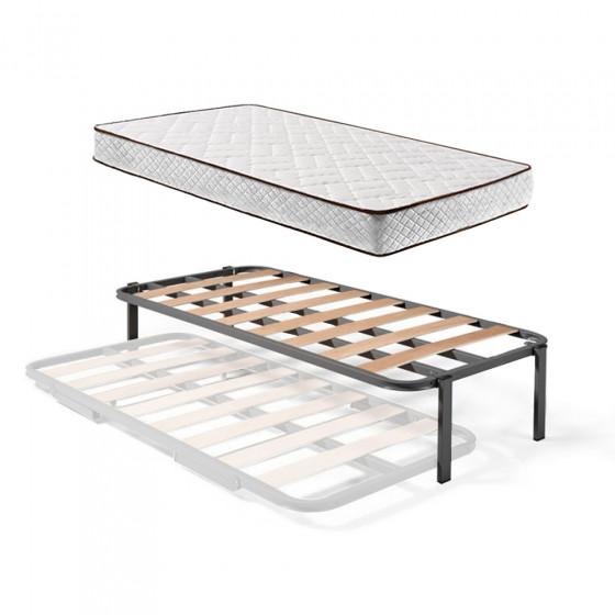 Somier Superior de Cama Nido con 4 Patas + Colchón Flexitex con Tejido 3D y Aloe Vera, Altura 18 cm