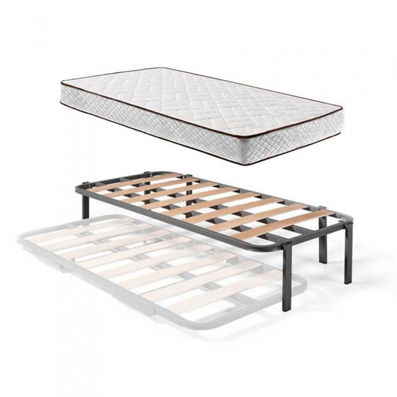 Somier Superior de Cama Nido con 6 Patas + Colchón Flexitex con Tejido 3D y Aloe Vera, Altura 18 cm