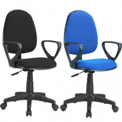 Silla Danfer oficina estudio giratoria con brazos color azul