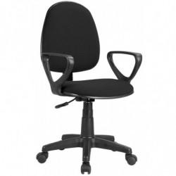 Silla Danfer oficina estudio giratoria con brazos color negro