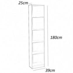 Estanteria alta 5 estantes 180 x 39 x25 color blanco