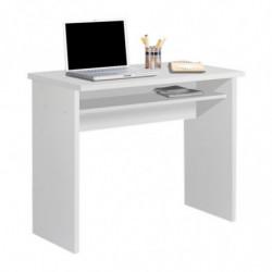 Mesa escritorio, mesa estudio, con bandeja extraible color blanco
