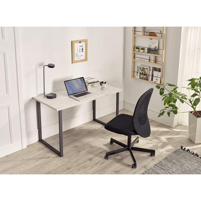 Angi 100 - Mueble Recibidor-Entrada, Diseño Industrial-Vintage, Cajón Y Estante, Madera Maciza Natural, Patas Metálicas.