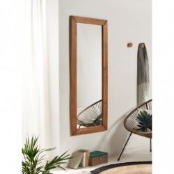 DILBAR- Espejo de pared madera maciza cuerpo entero para dormitorio, recibidor, salón.