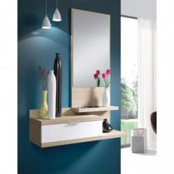 BELHO Recibidor 1c + espejo Color NATURE/Blanco Brillo