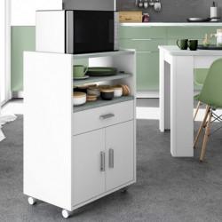 CHEFF Mueble microondas 1c+2p ColorBlanco/Cemento
