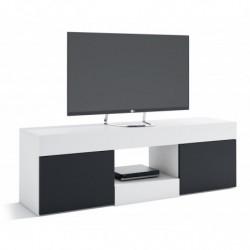 Mueble TV Renoir blanco y negro