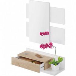 MODERN Recibidor 1c + espejo ColorBlanco Artik/RobleCanadian