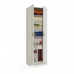 USE armario 2p con estantes ColorBlanco