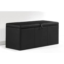 Baul tapizado universal color negro