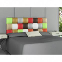 Cabecero tapizado polipiel PATCHWORK Multicolor  160cmx60cmx3cm