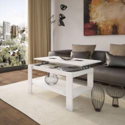 Mesa de centro elevable Roma blanca