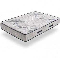 Colchón Xtrem Pocket de Muelle Ensacado + Base Tapizada con Válvulas de Transpiración y 6 Patas 26 cm.
